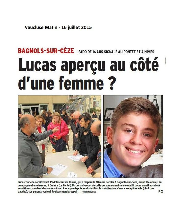 vaucluse disparition